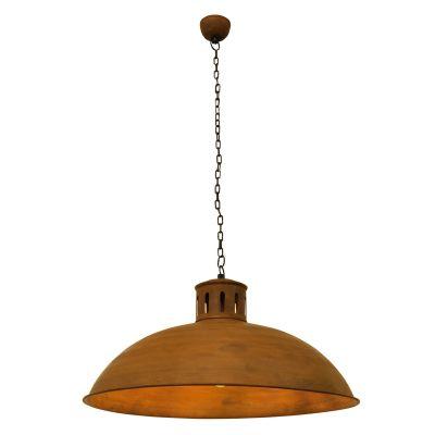 Pendente Udaipur Redondo Metal Envelhecido 30x54cm Bella Iluminação 1 E27 Bivolt PEI0032MA Cozinhas e Mesas