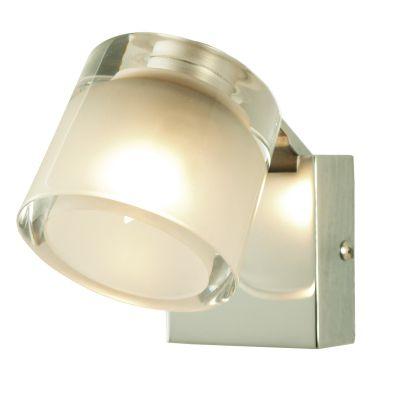 Arandela Obi Red Vidro Transparente Aço Cromado 9x8,5cm Bella Iluminação 1 G9 Halopin Bivolt SE064 Salas e Hall