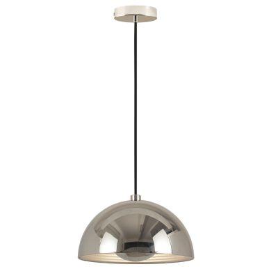 Pendente Mezza Redondo Metal Decorativo Cromado Ø50cm Bella Iluminação 1 E27 Bivolt SE500C Corredores e Cozinhas