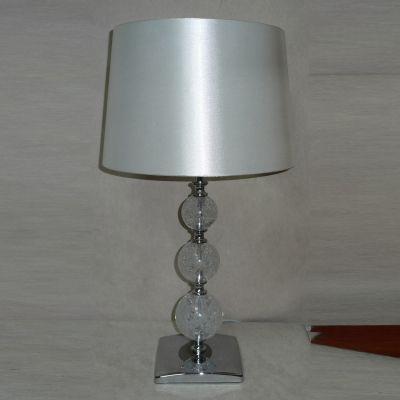 Abajur Perolado Red Vidro Tecido Metal Cromado 50x28,5cm Bella Iluminação 1 E27 Bivolt SL025 Quartos e Cabeceiras