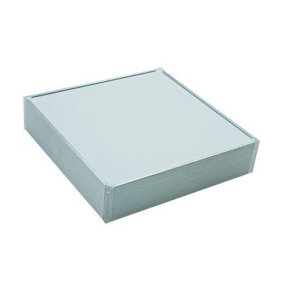 Plafon Quad Acrílico Alumínio Prata Branco Fosco Ø67cm Bella Iluminação 6 E27 Bivolt TS1606 Banheiros e Quartos