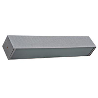Arandela Ret Alumínio Escovado Vidro Branco Fosco 8x50cm Bella Iluminação 3 G9 Halopin TS5023W Corredores e Salas