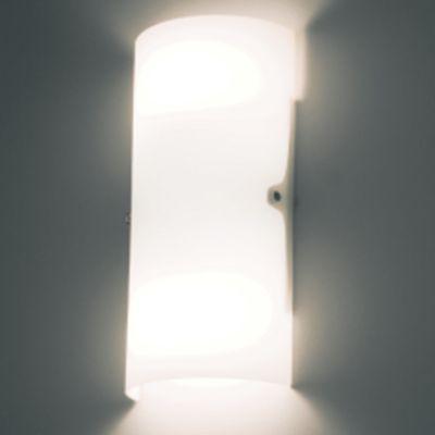 Arandela Bath Tubular Aço Cromado Vidro Branco 33x15cm Bella Iluminação 2 E27 40W Bivolt VT2028G Salas e Quartos
