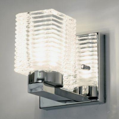 Arandela Bell Aço Cromado Vidro Quadrado 10x7,5cm Bella Iluminação 1 G9 Halopin Bivolt VT2041W Corredores e Salas