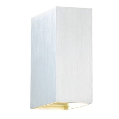 Arandela LED Brick Sobrepor Ret Alumínio Escovado 15x5cm Bella Iluminação 1 LED 5W Bivolt W1905S Salas e Quartos