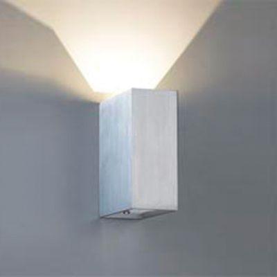Arandela LED Brick Sobrepor Ret Alumínio Branco 15x5cm Bella Iluminação 1 LED 5W Bivolt W1905W Salas e Quartos