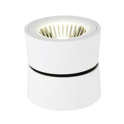 Spot Red Bloc Sobrepor LED Alumínio Branco 10,3x10,8cm Bella Iluminação 1 LED 10W Bivolt YD1300W Salas e Cozinhas