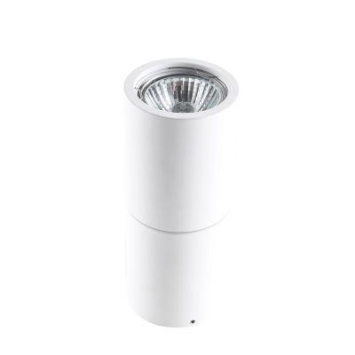 Spot Red Tubular Sobrepor Alumínio Branco 15,8x6,3cm Bella Iluminação 1 GU10 Dicróica Bivolt YD1800W Salas e Hall