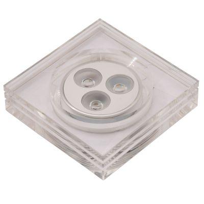 Spot LED Glow Quad Embutido Alumínio Acrílico 4,3x8,8cm Bella Iluminação 3 LED 1W Bivolt YD227QC Quartos e Salas