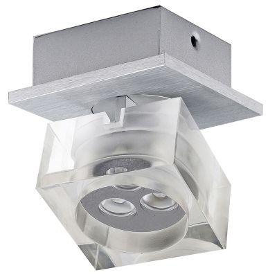 Spot Frost Soprepor Direcionável Alumínio Acrílico 8,3x9cm Bella Iluminação 3 LED 1W Bivolt YD3401 Salas e Quartos