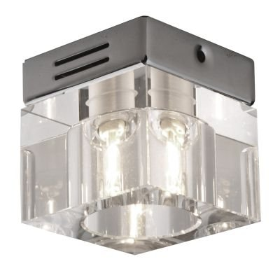 Spot Shine Quad Embutido Cristal Aço Cromado Ø7cm Bella Iluminação 1 G9 Halopin Bivolt YD604S Cozinhas e Salas
