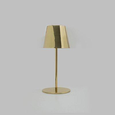 Abajur Didi Plástico Tecido Vertical Bege 46x19cm Golden Art 1x Lâmpada E27 Bivolt M903 Cabeceiras e Criados-Mudos