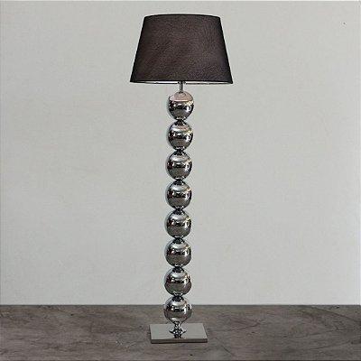 Coluna Infinity Cilindros Metal Cromado Cupula 170x55cm Golden Art 1x Lâmpada E27 Bivolt C745 Salas e Quartos