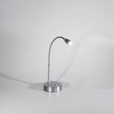 Abajur Hunter Direcionável Alumínio Cromado 35x15cm Golden Art 1x Lâmpada LED 1W Bivolt M655 Balcões e Mesas
