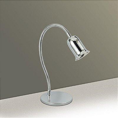 Luminária de Mesa Haste Flexível Metal Cromado Ø40cm Golden Art 1x GU10 Dicróica Bivolt M720 Mesas e Balcões