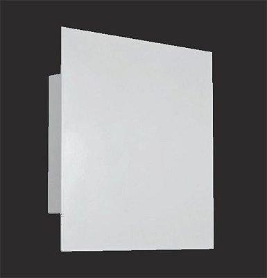 Arandela Painel Quadrada Alumínio Aço Branco 6x17cm Golden Art 1x G9 Halopin Bivolt P740 Quartos e Entradas