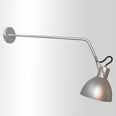 Arandela Seed Haste Direcionável Metal Cromado Ø52cm Golden Art 1x Lâmpada E27 Bivolt P893-B-25 Quartos e Balcões