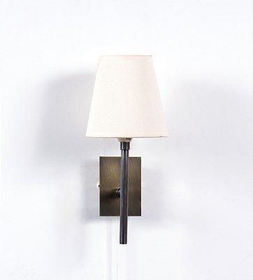 Arandela Clacie Cordinha Vertical Metal Cupula 38x14cm Golden Art 1x G9 Halopin Bivolt P985 Quartos e Balcões