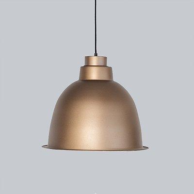 Pendente Indústria Vertical Sino Metal Bronze 38x45cm Golden Art 1x Lâmpada E27 Bivolt T4628 Cozinhas e Balcões