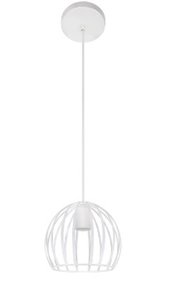 Pendente Inpienza Aramado Esfera Metal Branco 18x18cm Luciin 1x Lâmpada E27 Bivolt CF166/3 Balcões e Corredores