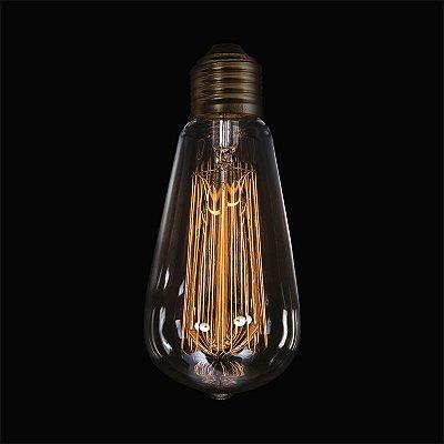 Lâmpada InGabbia E27 40 Watts Decorativa Filamento Carbono Luciin DL002/1