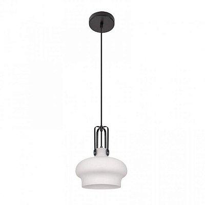 Pendente Inpepoli Vertical Cupula Vidro Branco 38x33cm Luciin 1x Lâmpada E27 Bivolt FR017/3 Salas e Cozinhas