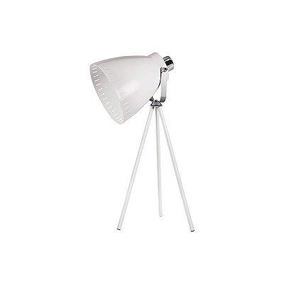 Abajur Ingioventu Tripé Conica Metal Branco 50x20cm Luciin 1x Lâmpada E27 Bivolt HN006/3 Balcões e Quartos