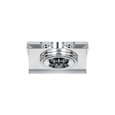 Spot Carrara Embutido Metal Cristal Espelhado 1x9cm Luciin 1x Lâmpada GU10 Dicróica Bivolt ZG033 Cozinhas e Quartos