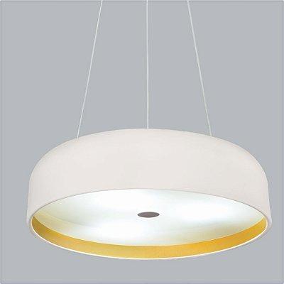 Pendente Oberon Vertical Redondo Alumínio Branco 10x60cm Usina Design 8x E27 Bivolt 16211-60 Salas e Entradas