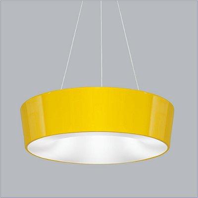 Pendente Vulcano GG Redondo Alumínio Amarelo 15x65cm Usina Design 8x E27 Bivolt 16216-65 Mesas e Corredores