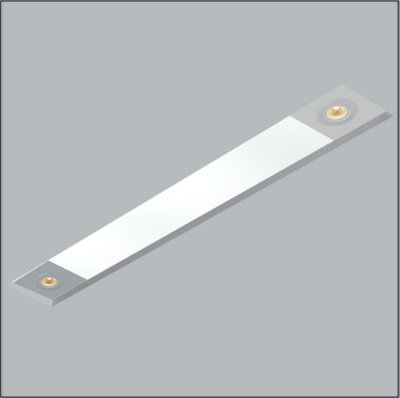 Plafon Now Frame Embutido Retangular Acrílico 12x84cm Usina Design 2 T8 Tubular/ 2 AR70 30094-79 Salas e Entradas