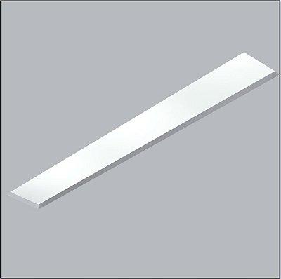 Plafon Now Frame Embutido Retangular Acrílico 12x65cm Usina Design 2x T8 Tubular Bivolt 30111-62F Salas e Banheiros