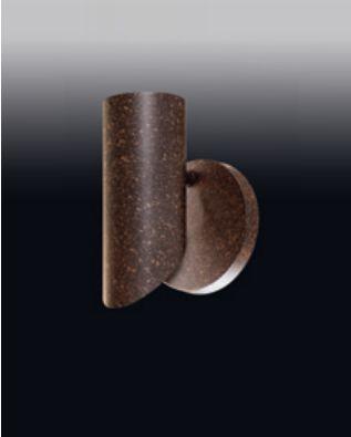 Arandela Ferrugem Tubular Redondo Vertical Metal 15x9,5cm Old Artisan 1x GU10 Dicróica AR-4996A Entradas e Salas
