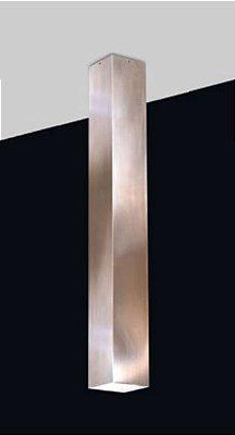 Plafon Cubo Vertical Retangular Metal Cobre Escovado 59x7,6cm Old Artisan 1x PAR20 Bivolt EMB-4989 Salas e Balcões
