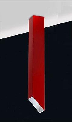 Plafon Fino Moderno Vertical Alumínio Vermelho 59x7,6cm Old Artisan 1x PAR20 Bivolt EMB-4983 Balcões e Entradas