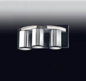 Arandela 3 Tubos Moderno Alumínio Cromado 14x15cm Old Artisan 3x GU10 Dicróica AR-4959 Entradas e Quartos