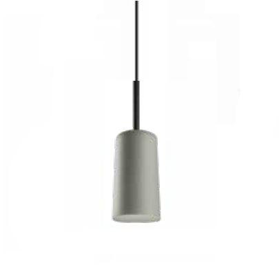 Pendente Bilboque Tubular Conico Metal Cinza 13,5x38cm Newline Lâmpada E27 25W Bivolt 109FFPT Balcões e Mesas