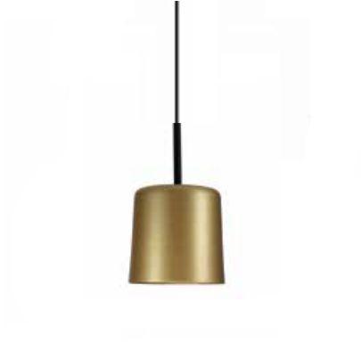Pendente Bilboque Tubular Redondo Metal Dourado 35x20cm Newline Lâmpada E27 25W Bivolt 111DOPT Balcões e Mesas