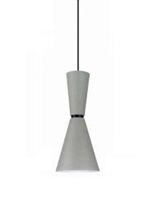 Pendente Bambola Metal Funil Vertical Metal Branco 41,5x18cm Newline Lâmpada E27 25W Bivolt 153FFPT Salas e Hall