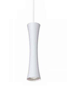 Pendente Sottile Tubo Curvo Vertical Alumínio Branco 30x12cm Newline Lâmpada PAR16 50W ST20011BT Salas e Corredores