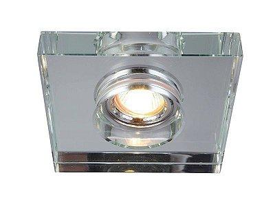 Spot Project Cristal Espelhado Embutido Quadrado 2x11cm Mantra 1x MR11 50W Bivolt 30167 Salas e Cozinhas