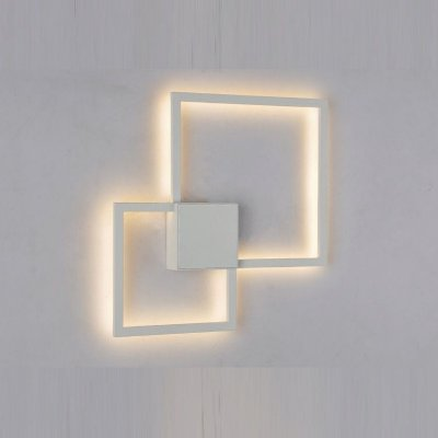 Arandela Fuoco LED Alumínio Branco Fosco Microtexturizado 35x35cm Mantra 1x LED 3000K 20W 30507 Salas e Corredores