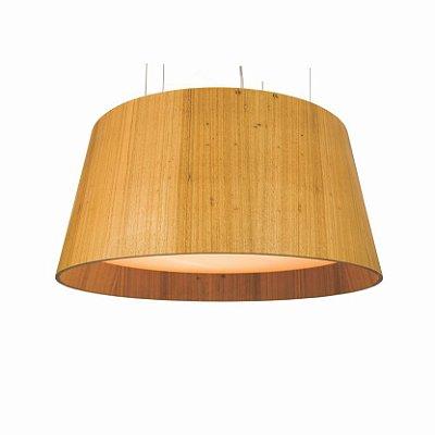 Pendente Liso Cônico Redondo Madeira Imbuia 35x100cm Accord Iluminação 7x E27 25W Bivolt 258 Salas e Quartos