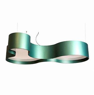 Pendente KS Organico Curvo Moderno Madeira Imbuia 20x80cm Accord Iluminação 9x E27 Bivolt 263 Salas e Entradas