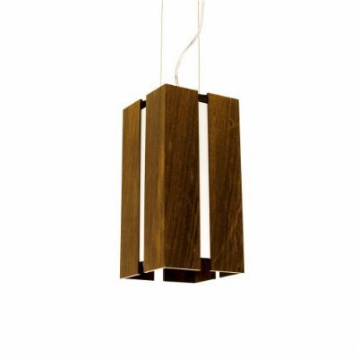 Pendente Filete Vertical Aberto Madeira Imbuia 30x15cm Accord Iluminação 1x E27 25W Bivolt 810 Salas e Cozinhas