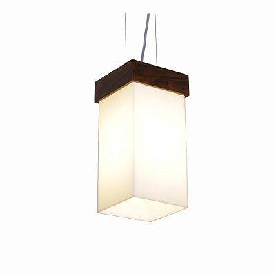 Pendente Cachepô Clean Vertical Madeira Imbuia 30x20cm Acordd Iluminação 1x E27 Bivolt 1060 Salas e Entradas