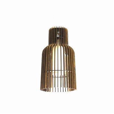 Pendente Stecche Di Legno Tubular Madeira Imbuia 50x24cm Accord Iluminação 1x E27 25W Bivolt 1137 Salas e Entradas