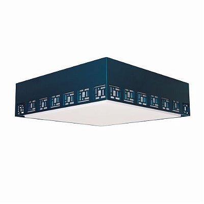 Plafon Labirinto Sobrepor Quadrado Madeira Imbuia 15x45cm Accord Iluminação 3x E27 25W Bivolt 5006 Salas e Hall