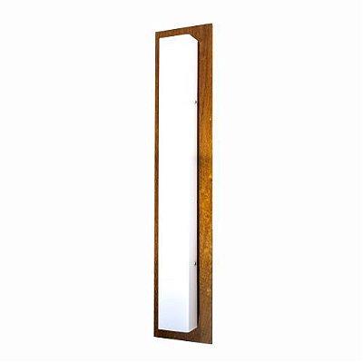 Arandela Clean Basica Longa Vertical Madeira Imbuia 100x20cm Accord Iluminação 3x E27 Bivolt 436 Salas e Quartos