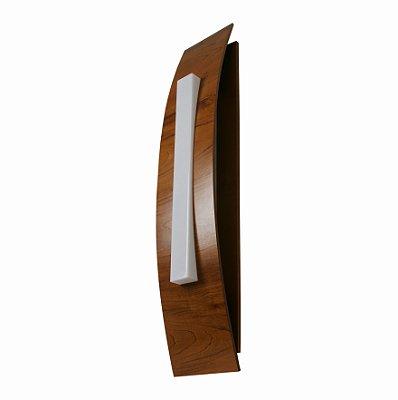 Arandela Barca Cilindrica Vertical Madeira Imbuia 100x20cm Accord Iluminação 3x E27 Bivolt 454 Salas e Quartos